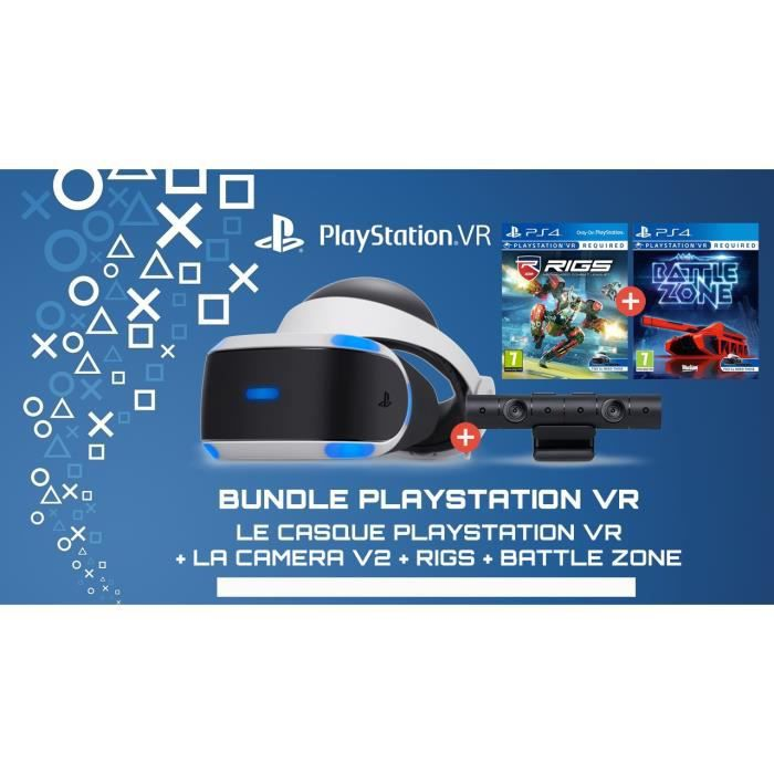 PLAYSTATION VR (ONLY PS4) + BATTLE ZONE + RIGS + CAMERA