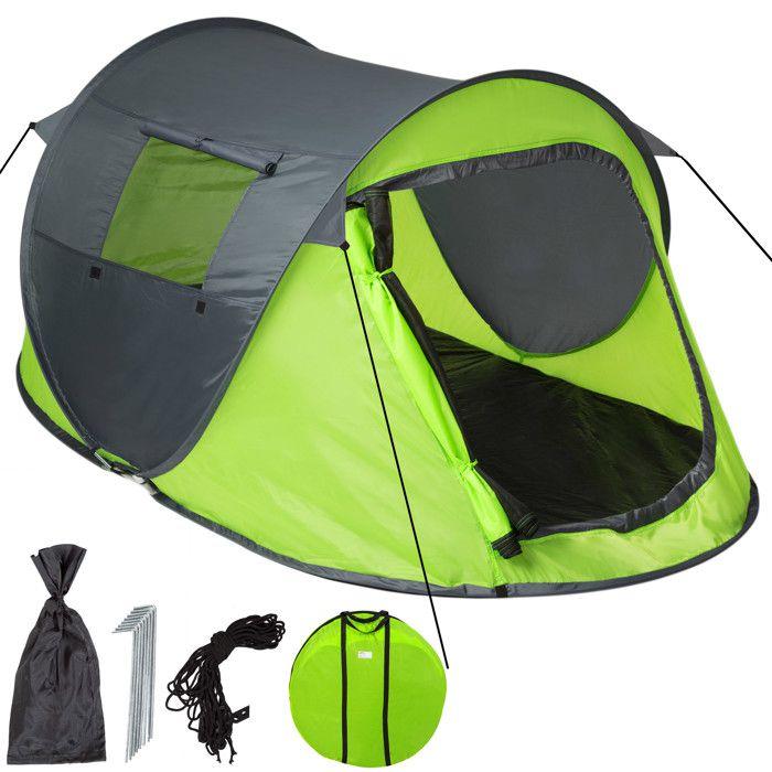 Tente 2 places - gris/vert