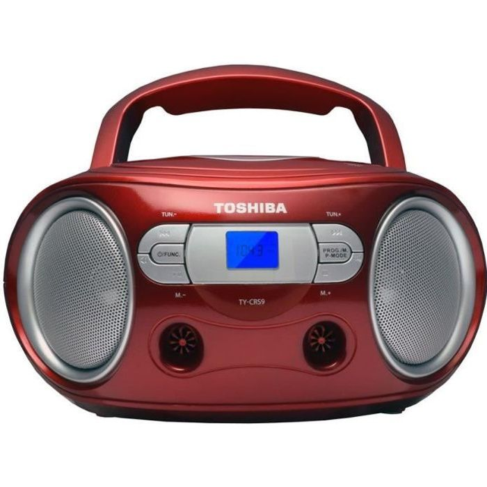 TOSHIBA TY-CRS9 BoomBox CD Portable - Rouge