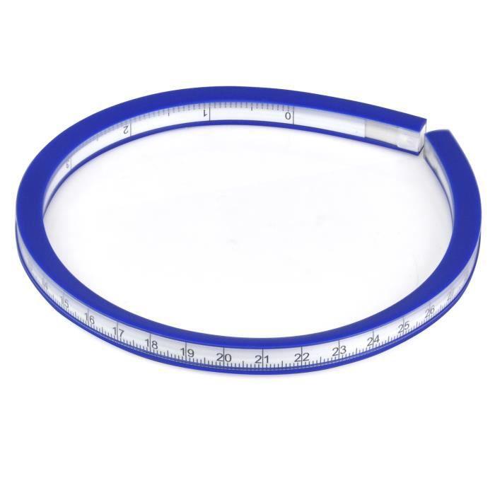 TRIXES Règle flexible règle courbe plastique vinyle 30 cm
