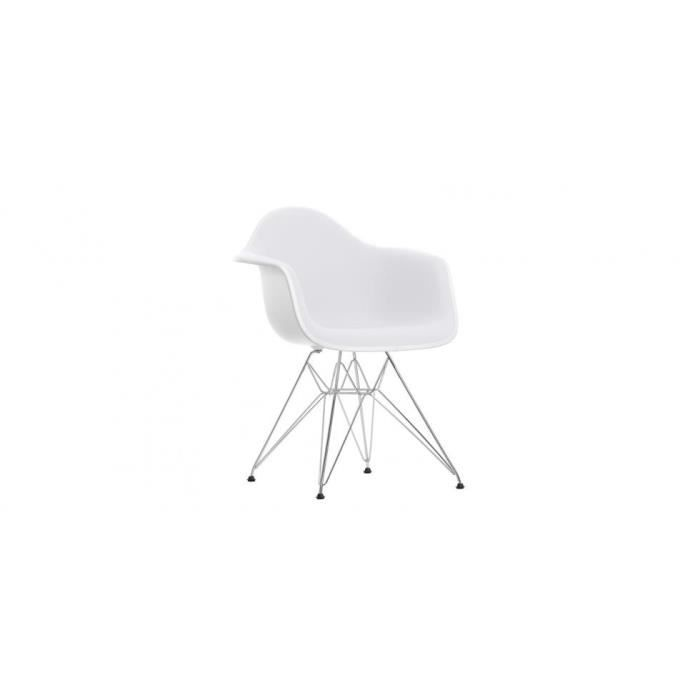 chaise dar inspir e charles eames coque blanche achat vente chaise blanc cdiscount. Black Bedroom Furniture Sets. Home Design Ideas