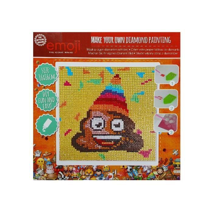 Broderie Diamant Enfant Emoji Poo 16 X 16 Cm Kit Complet Painting Diamond Achat Vente Kit Mosaïque Broderie Diamant Enfant Emoji Cdiscount