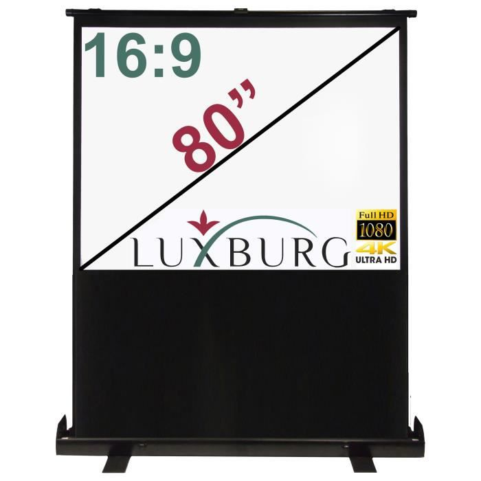 luxburg cran de projection portable 177x100cm ecran de projection avis et prix pas cher. Black Bedroom Furniture Sets. Home Design Ideas