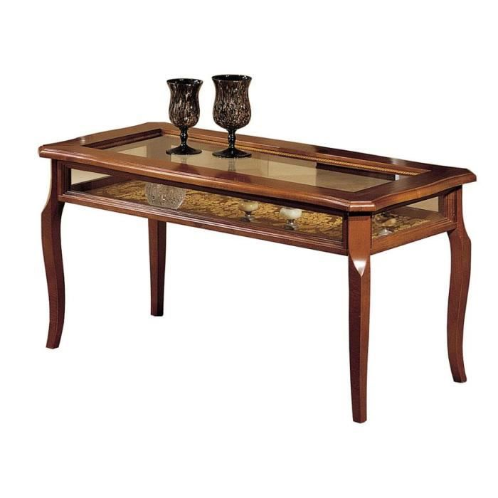 Er 1764 table vitrine basse de salon artisan achat vente table basse - Table salon cdiscount ...