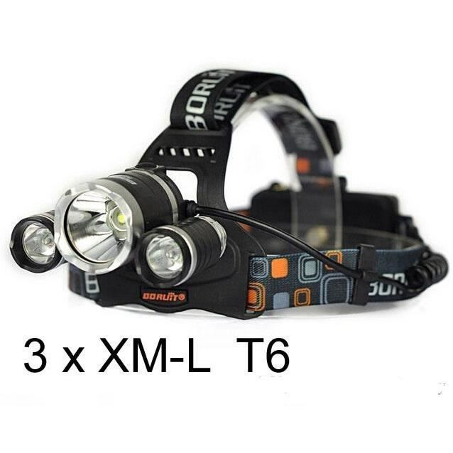 6000 3 X Lumens L Frontale Puissante Ultra Xm T6 Cree Lampe kPwO0n