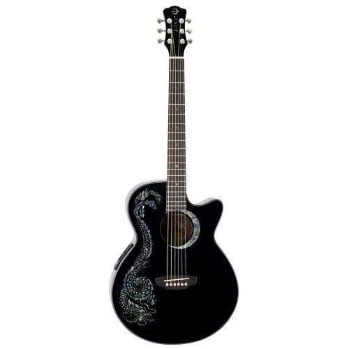 luna fau dra blk fauna guitare lectro acoustique avec. Black Bedroom Furniture Sets. Home Design Ideas