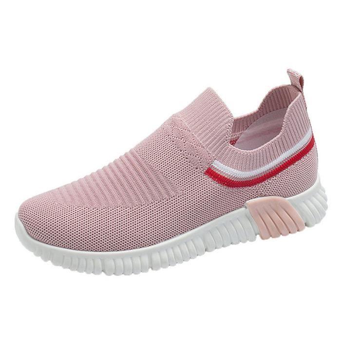 Mode femmes chaussures baskets respirant confortable extérieur sans lacet  femmes chaussures décontractées