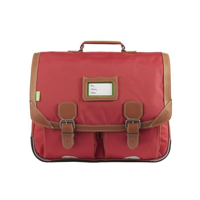CARTABLE Tann's - Grand cartable 41cm CE2/CM1/CM2 rouge Mad