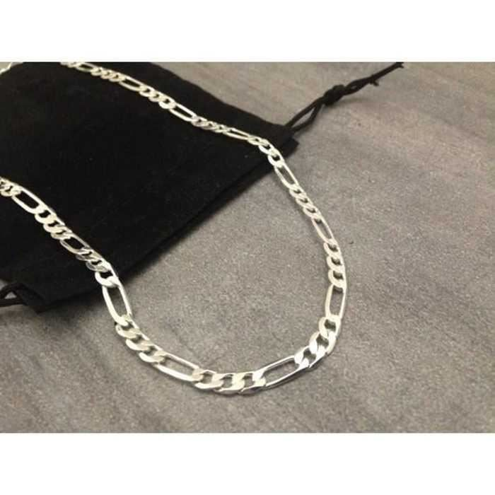 """U7 homme bijoux 18K Plaqué Or Escargot Chaîne Cool Lien Chaîne Collier 6 mm 18-30/"""""""