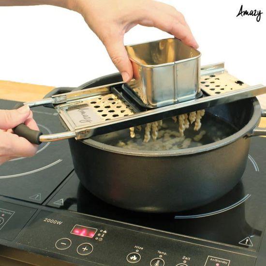 Râpe à Spaetzle Inox Pâtes Outil à Main Accessoire de Cuisine