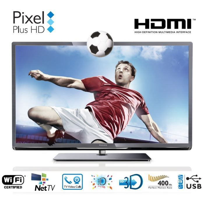 philips 46pfl5537h smart tv 3d 117 cm t l viseur led prix pas cher cdiscount. Black Bedroom Furniture Sets. Home Design Ideas