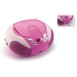 RADIO CD CASSETTE LENCO SCD-37 Pink