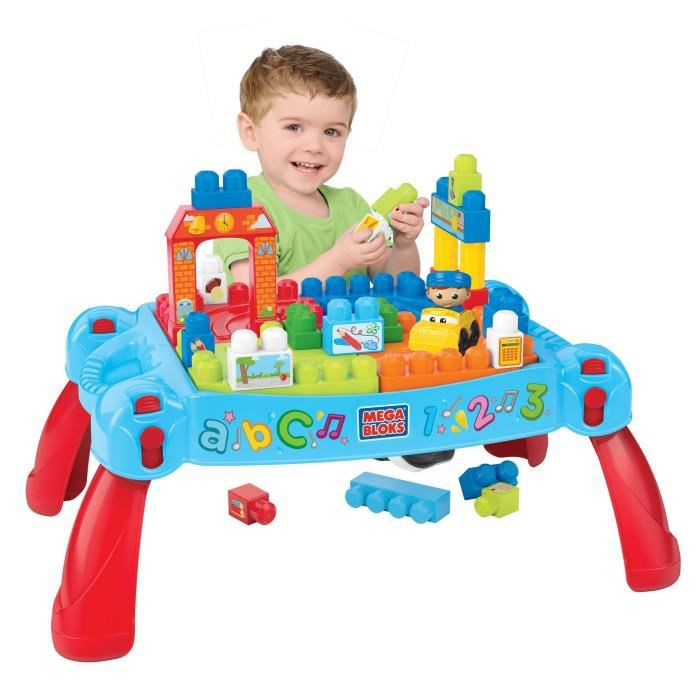 Mega bloks first builders la table 3 en 1 achat for Builders first