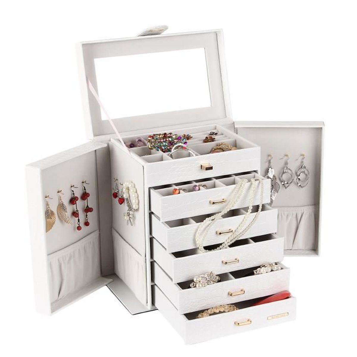 bo te bijoux grand bo te coffret bijoux blanc bo te. Black Bedroom Furniture Sets. Home Design Ideas