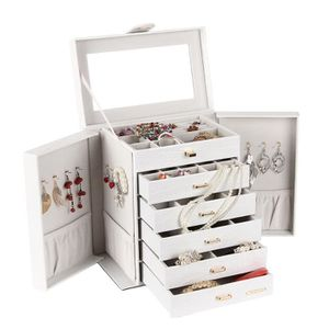 BOITE A BIJOUX Boîte à bijoux Grand Boîte/Coffret à Bijoux Blanc