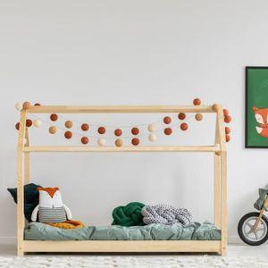 LIT MEZZANINE Lit maisonnette / Lit cabane - PANAMA - 80x160 cm