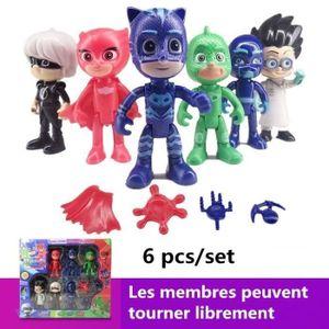 FIGURINE - PERSONNAGE 6 pcs/set Les Pyjamasques  Jouets en PVC Homme mas