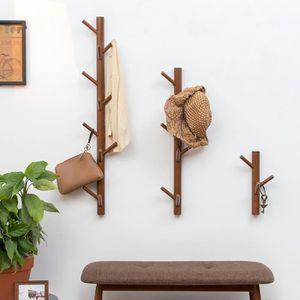 PORTE-MANTEAU Porte Manteau Mural en Bois de Bambou en Forme d'