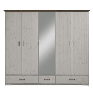 ARMOIRE DE CHAMBRE Armoire en pin massif coloris blanc - Dim : 206 x
