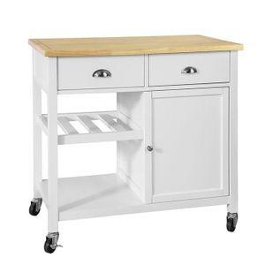 DESSERTE - BILLOT SoBuy® FKW62-WN Desserte Roulante Chariot de Cuisi