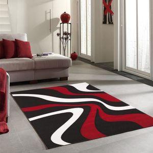TAPIS Tapis DIAMOND VAGUES rouge Tapis Moderne 160 x 230