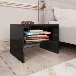 Table De Chevet Noir Brillant