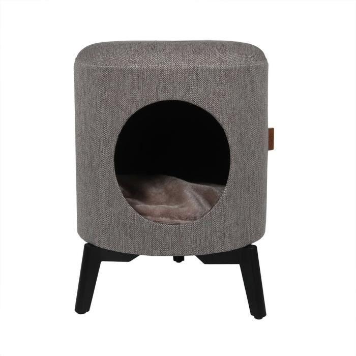 D&D Maison Louis - Taupe - 35 x 35 x 46 cm - 3,75 kg - Pour chat
