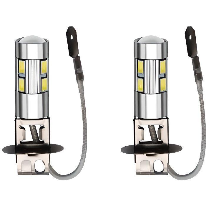 Ampoules H3 LED 10 SMD Blanc Xenon 6000K Anti Brouillard Auto Moto 12V
