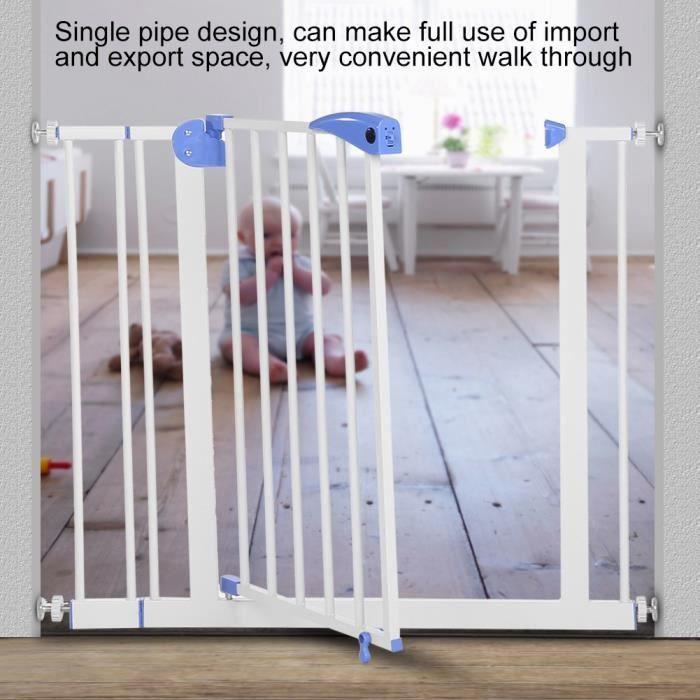 Porte de Sécurité pour Bébé Enfant Porte Fermer Automatique Cl?ture d'Escalier Protection Sécurité de Bébé(Bleu)---LEB