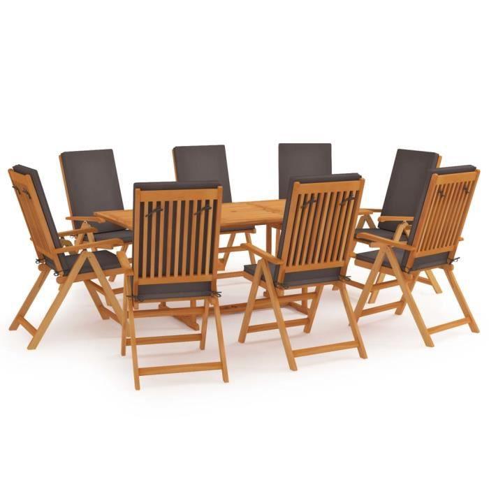 BMP2💃-Bien - Salon de jardin - Ensemble table à manger de 8 à 10 personnes + 8 chaises - Ensemble à dîner Contemporain Ensemb5388