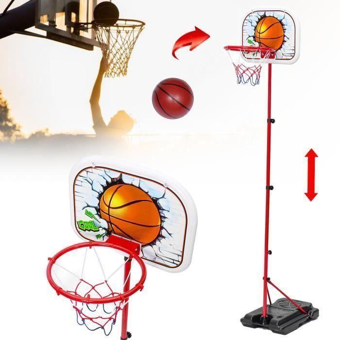 Support de Basket Portable Extérieur Grand Panneau Arrière Intérieur Réglable en Hauteur
