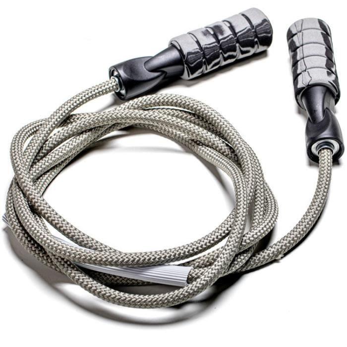 2.8m haute vitesse corde à sauter corde à sauter Crossfit Fitness équipement Double portant poi - Modèle: Gris clair - HSJSTSA02256