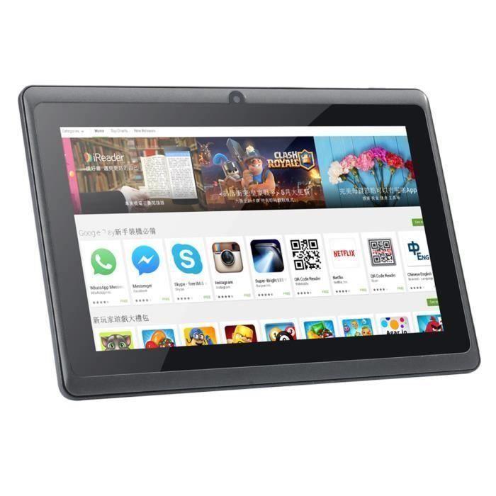 7 pouces Q88 Tablet Android 4.4 Quad-Core 8 Go PC double caméra wifi Bluetooth @pop256