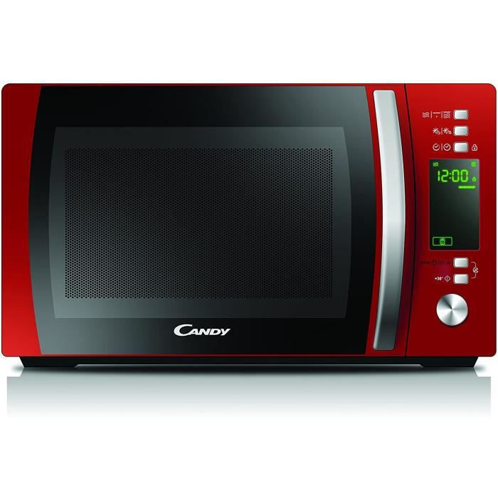 Candy Cmxg20Dr – Four micro-ondes avec grill et Cook in App, 20 L, 40 programmes automatiques, 700 W, rouge [Classe énergétique A]