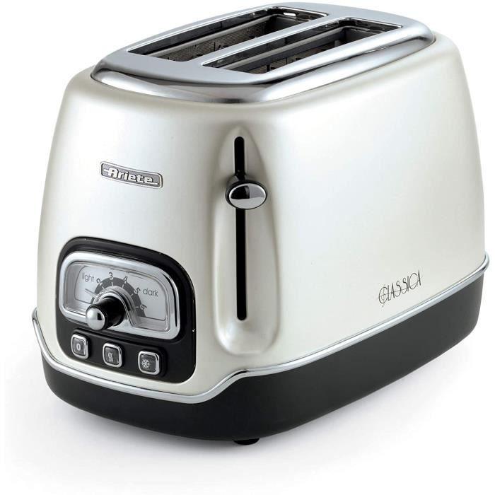 Ariete GAL-124488 Grille pain Toaster 2 fentes Classica Perle, Blanc