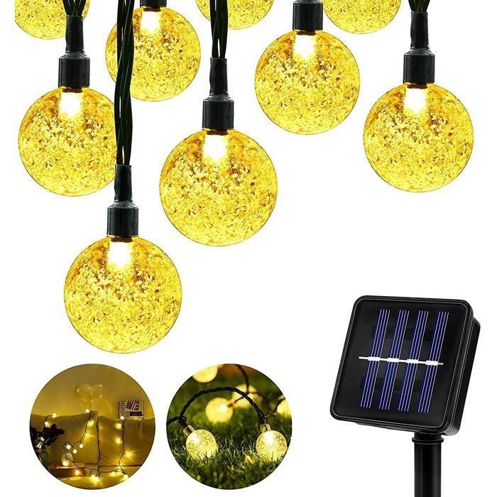Guirlande lumineuse solaire d'extérieur - 50LED - 9,5 m - 8 modes - Étanche - Éclairage extérieur - intérieur - Éclairage pou 278