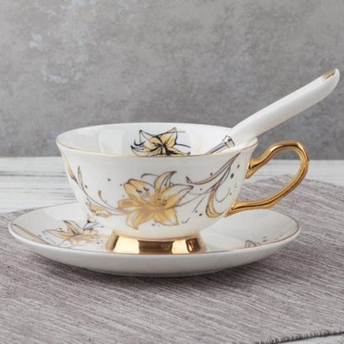 Service à café avec soucoupes,Tasse de thé noir, Royal, porcelaine classique britannique, tasses à café en - Type 15 -