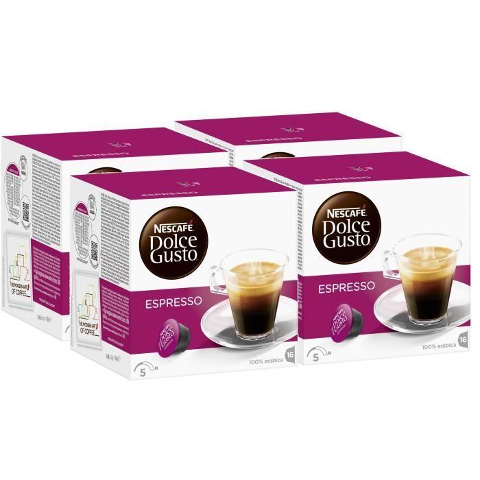 Nescafe Dolce Gusto Espresso Cafe 64 Dosettes