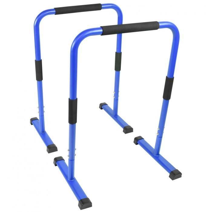 Barres parallèles Gorilla Sports - Hauteur: 94 cm - Coloris : bleu