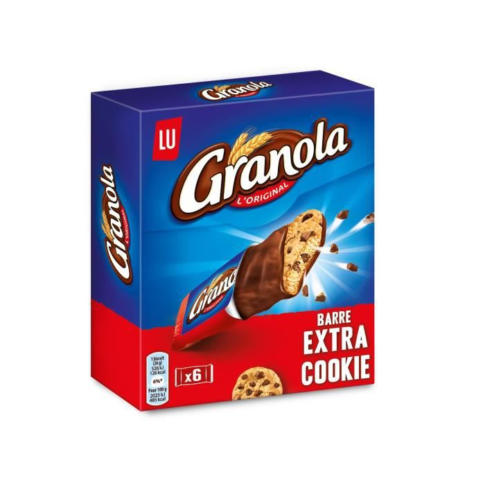 Barre extra cookie 0.168 KGM Granola
