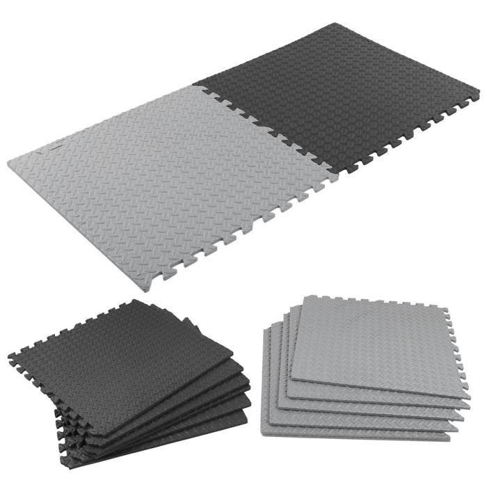 CDP-Tapis en mousse 12 pièces - ensemble tapis de sol de gymnastique imbriqué tapis de mousse de remise en forme tuiles
