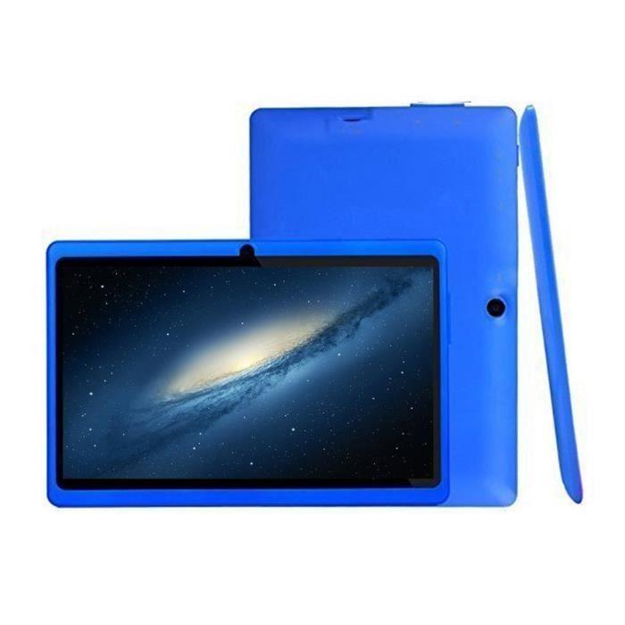 Tablette 7 pouces, écran haute définition Tablette PC quadricœur Slim, caméra HD 2.0MP BLEU