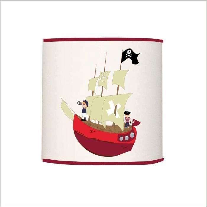 Lilipouce Abat Jour Bateau Pirate Cylindrique