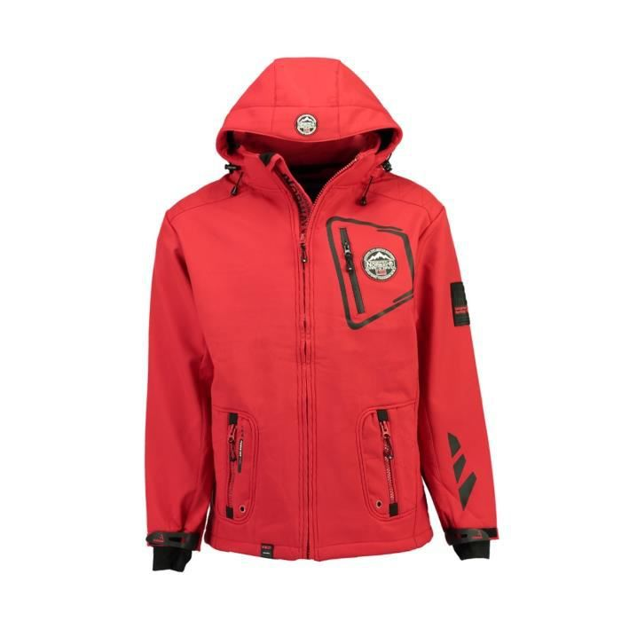 Softshell Homme Geographical Norway Tacebook Rouge