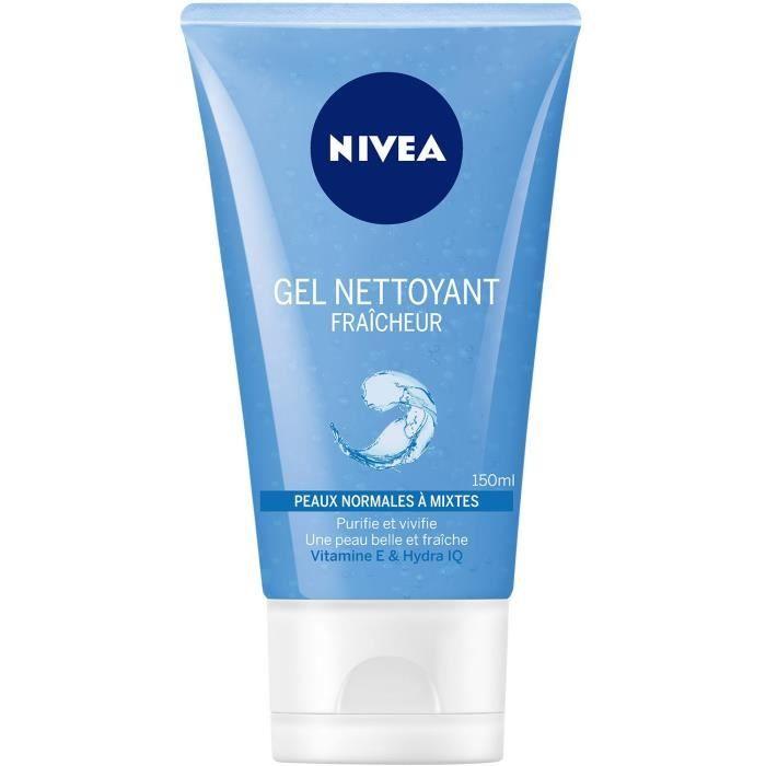 NIVEA Gel nettoyant Fraîcheur - Pour peaux normales à mixtes - 150 ml