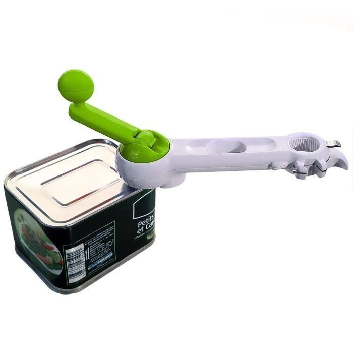 SHOP-STORY - Ouvre-Boîtes Ouvre Bocaux Manuel Multifonction 7-en-1 Pour Bocaux, Bouteilles, Cannettes etc