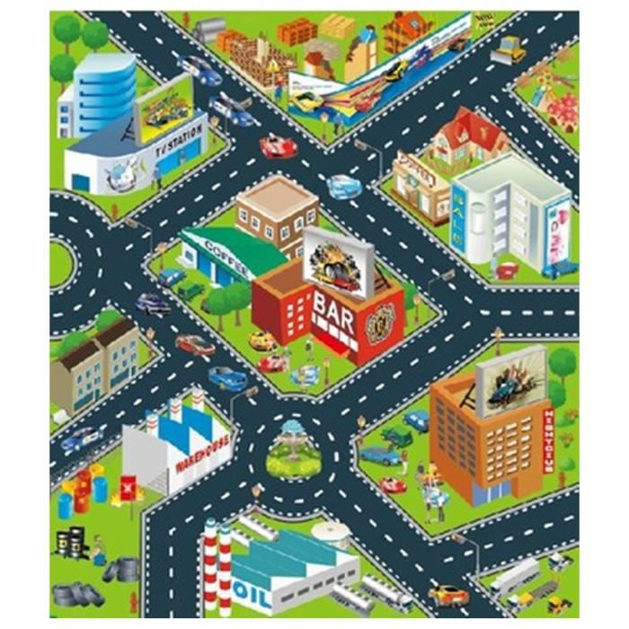 tapis de jeu circuit ville voiture de course tapis de sol rectangle pour b b enfant achat. Black Bedroom Furniture Sets. Home Design Ideas