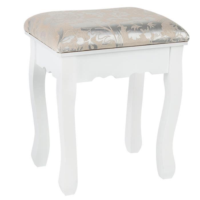 Tabouret Blanc Pour Coiffeuse Chaise De Coiffeuse Chaise De Piano Achat Vente Coiffeuse Tabouret Blanc Pour Coiffeu Cdiscount