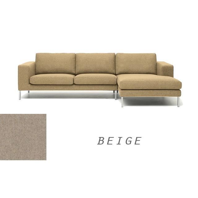 grand canape moderne angle droit en tissu beige napoli achat vente canap sofa divan. Black Bedroom Furniture Sets. Home Design Ideas