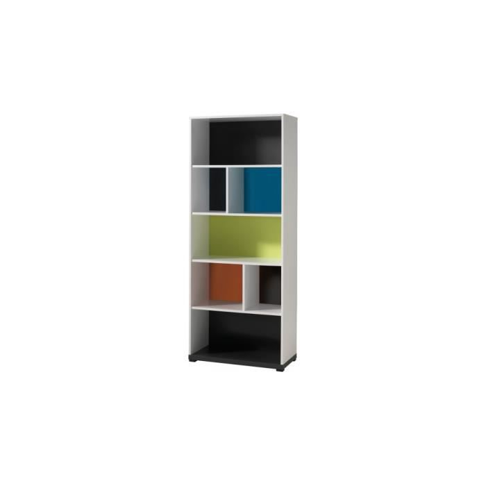 biblioth que enfant laqu multicolore 4 niveaux nixon. Black Bedroom Furniture Sets. Home Design Ideas